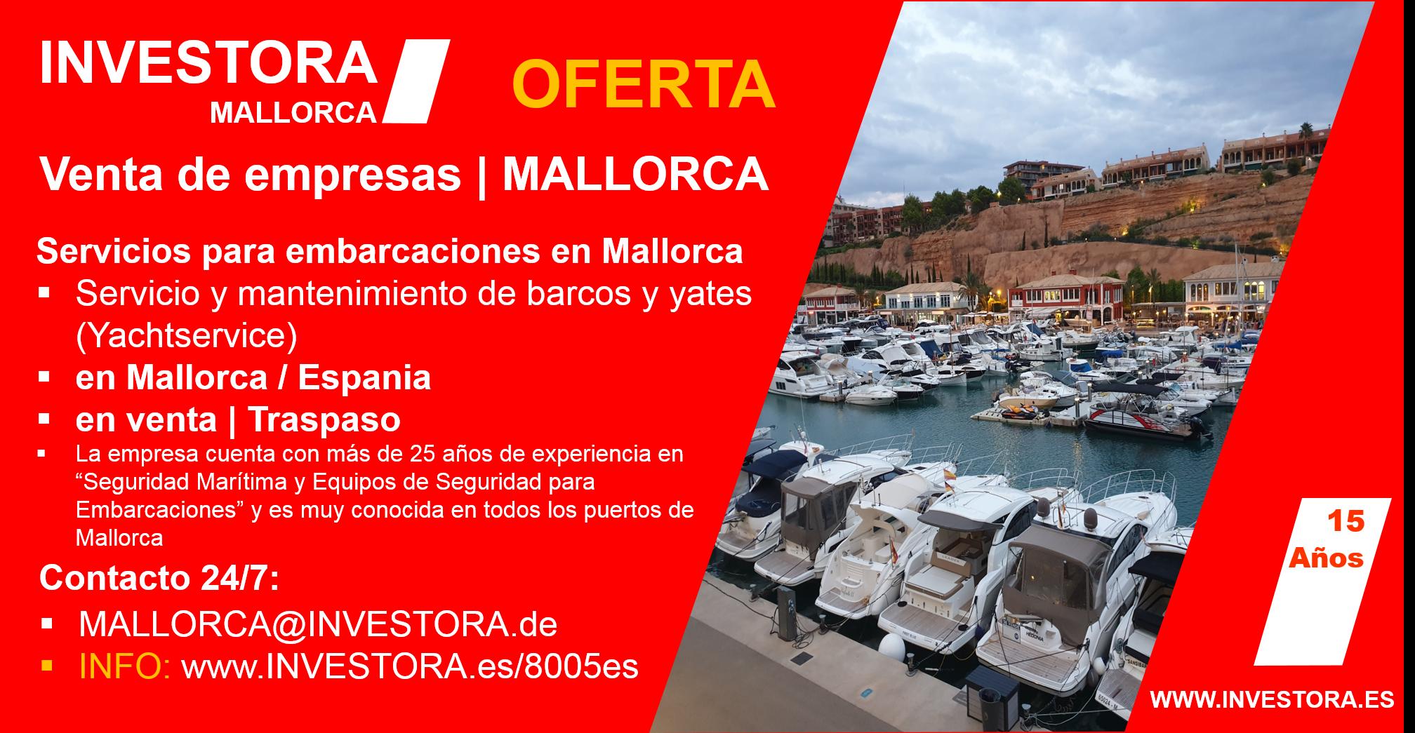 INVESTORA MALLORCA 8005es - Servicio de barcos en venta
