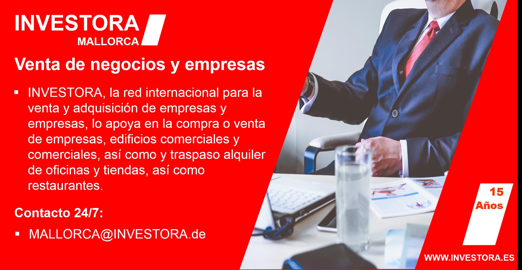 INVESTORA MALLORCA Experto Venta de negocios y empresas